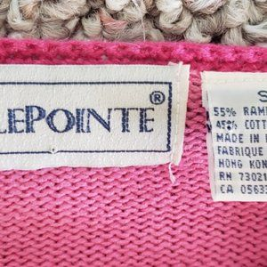 BellePointe Sweaters - pink cardigan cotton sweater 19 white poodles S